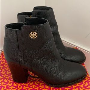 Tory Burch black ankle booties